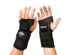 wrist guards on hand