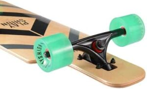 Playshion Drop Through Freestyle Longboard Skateboard Cruiser-trucks