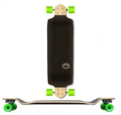 Yocaher Blank-Checker Complete Drop Down Skateboards Longboard Black Widow 80A Grip Tape Aluminum Truck ABEC7 Bearing 70mm Skateboard Wheels-1