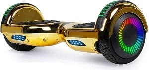 SISIGAD Hoverboard Self Balancing Scooter 6.5 Two-Wheel Self Balancing Hoverboard with Bluetooth Speaker and LED Lights