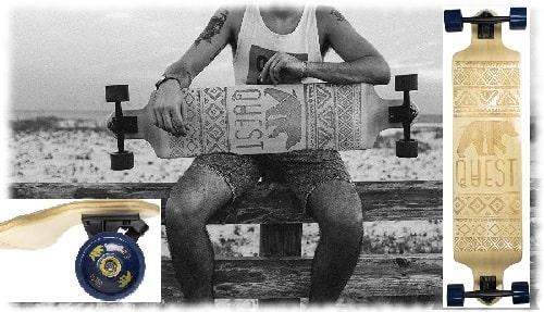 Quest Skateboards California Native Spirit Skateboard,Longboard