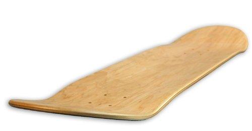 Guluman FORESTONE Blank Decks Warning Skateboard Deck (Natural)-8.0inch-Deep Concave